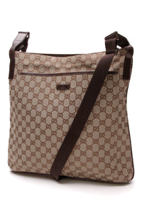 Gucci Large Messenger Bag Signature Canvas Beige