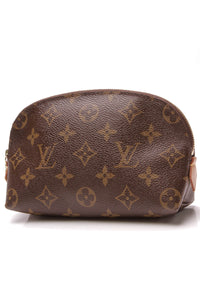 Louis Vuitton Cosmetic Pouch Monogram Canvas Brown