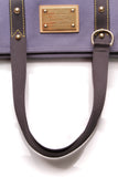Louis Vuitton Cabas MM Tote Bag Blue Antigua Canvas