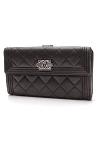 Chanel Boy Flap Wallet Black