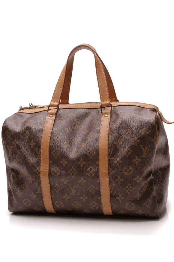 Louis Vuitton Vintage Sac Souple 35 Bag Monogram Brown