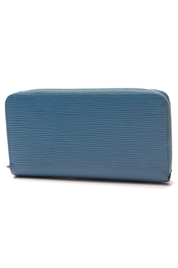 Louis Vuitton Epi Zippy Wallet Cyan Blue