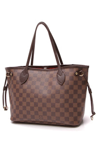 Louis Vuitton Neverfull PM Tote Bag Damier Ebene Brown