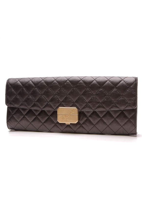 Chanel Hambourg Clutch Bag Black