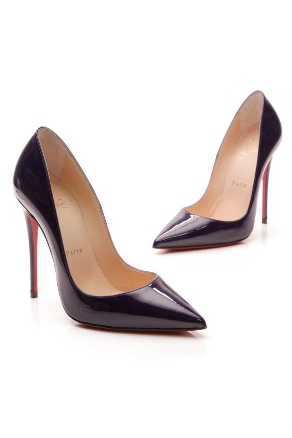 Christian Louboutin So Kate Pumps Cobalt Patent Size 35