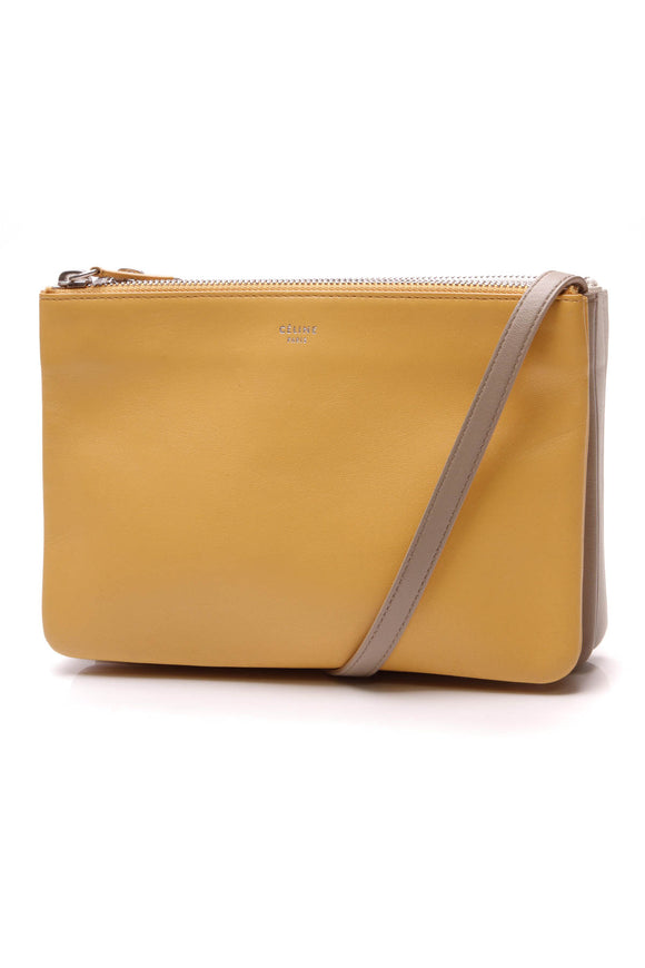 Celine Trio Crossbody Bag Yellow White