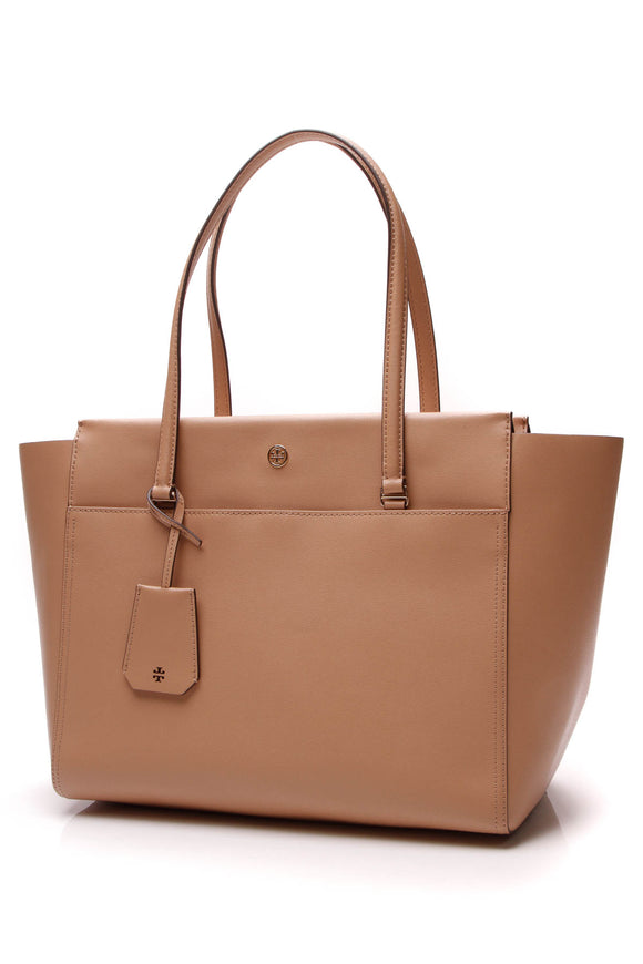 Tory Burch Robinson Tote Bag Cardamom Brown