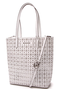 Michael Kors Hayley Laser Cut Tote Bag White