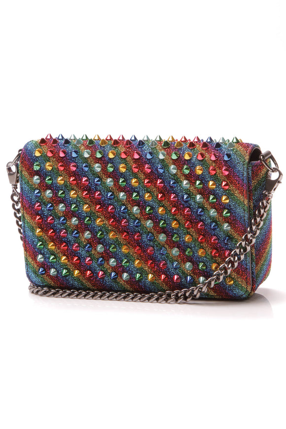 Christian Louboutin Zoompouch Arc en Ciel Spiked Bag Multicolor Rainbow