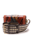 Burberry Snakeskin Patchwork Buckle Bag Multicolor