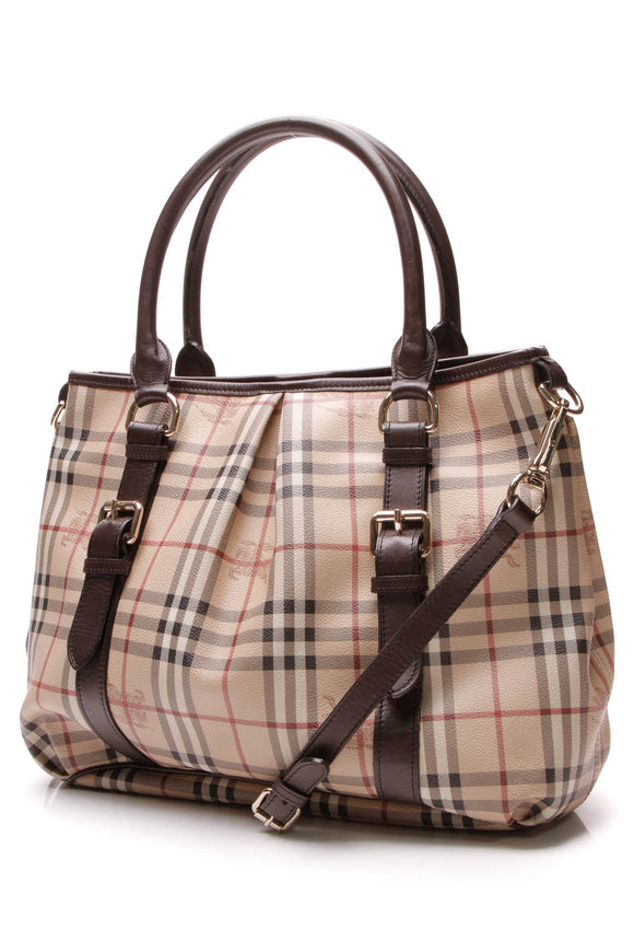 Burberry Northfield Large Tote Bag Haymarket Check