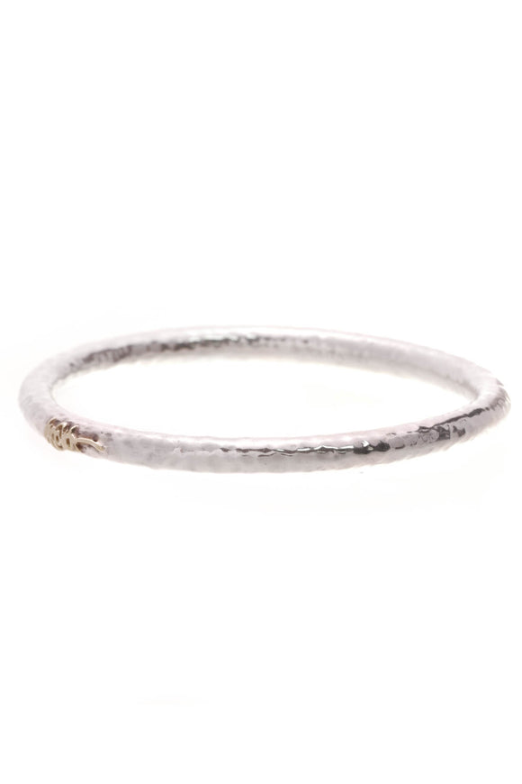 Ippolita Classico Signature Hammered Bangle Bracelet Silver