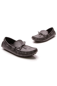 Louis Vuitton Arizona Moccasin Men's Loafers Monogram Eclipse US Size 10.5 Gray