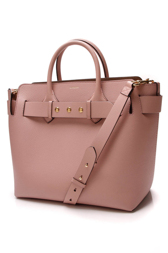 Burberry Triple Stud Belt Large Tote Bag Ash Rose Pink