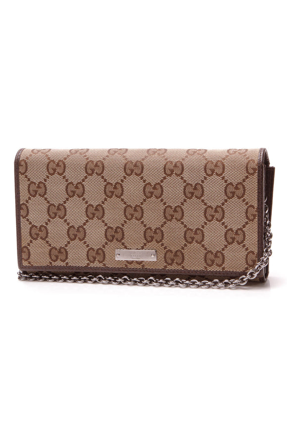 Gucci Wallet On Chain Bag Signature Canvas Beige
