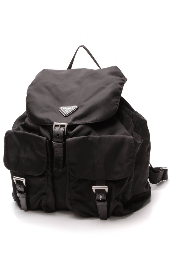 Prada Tessuto Drawstring Backpack Black Nylon