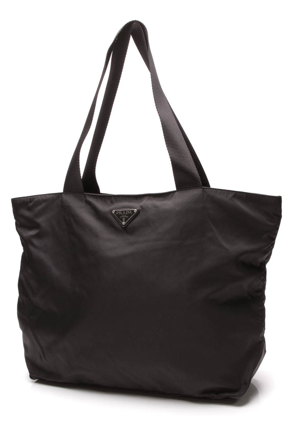 Prada Tessuto Tote Bag Black Nylon