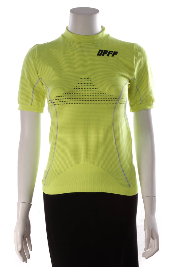 Off-White Offf Compression Jersey Shirt Fluo Yellow Size Large