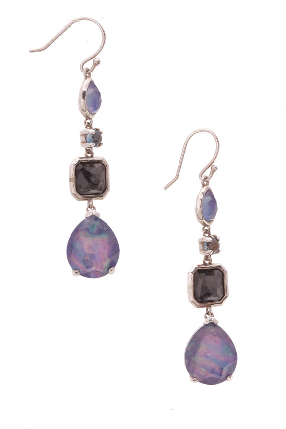 Ippolita Rock Candy 4-Stone Drop Earrings Silver Purple