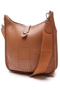 Hermes Evelyne III PM Bag Gold Clemence Brown