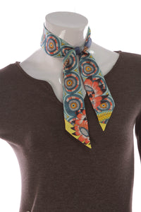 Hermes The Savana Dance Twilly Scarf Multicolor