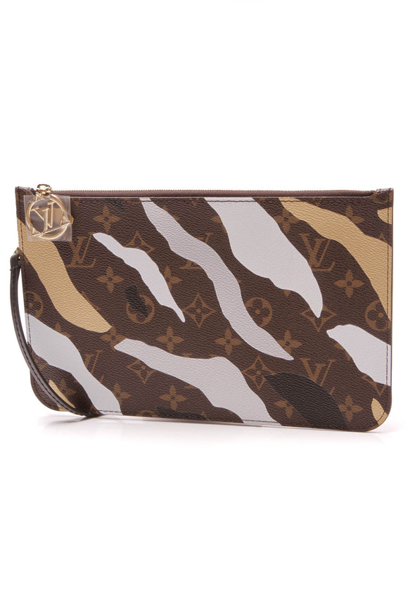 Louis Vuitton LV X LoL Neverfull Pouch Wristlet Monogram Brown