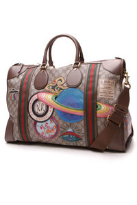 Gucci Courrier Soft Duffle Bag Supreme Canvas Brown