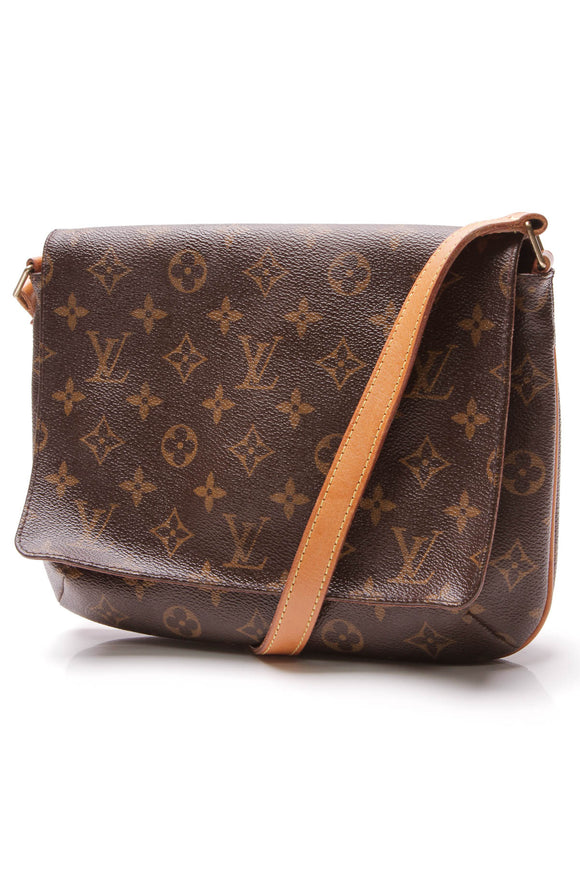 Louis Vuitton Vintage Musette Tango Bag Monogram Brown