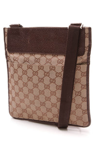 Gucci Messenger Crossbody Bag Signature Canvas Brown