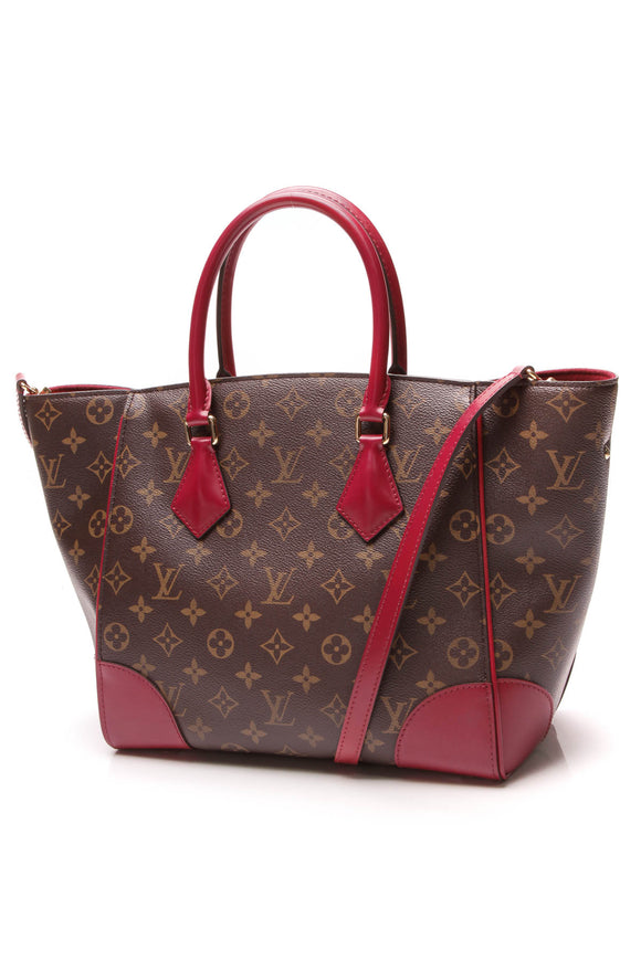 Louis Vuitton Phenix MM Bag Monogram Brown Fuchsia