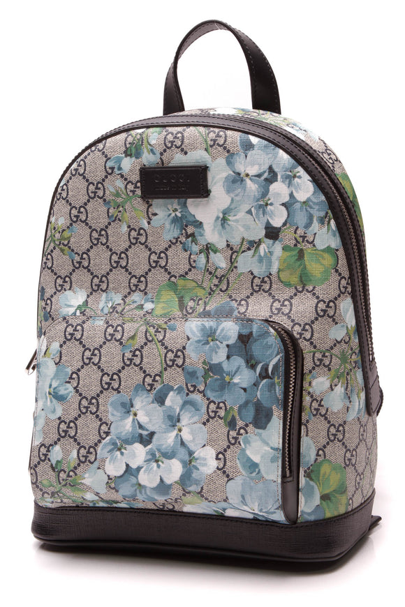 Gucci Blooms Small Backpack Supreme Canvas Blue