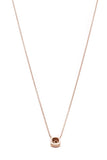 Tiffany & Co. Paloma Picasso Sugar Stack Sapphire Necklace Rose Gold