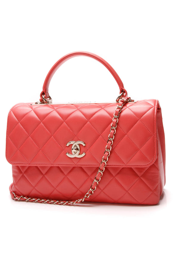 Chanel Trendy CC Flap Bag Coral