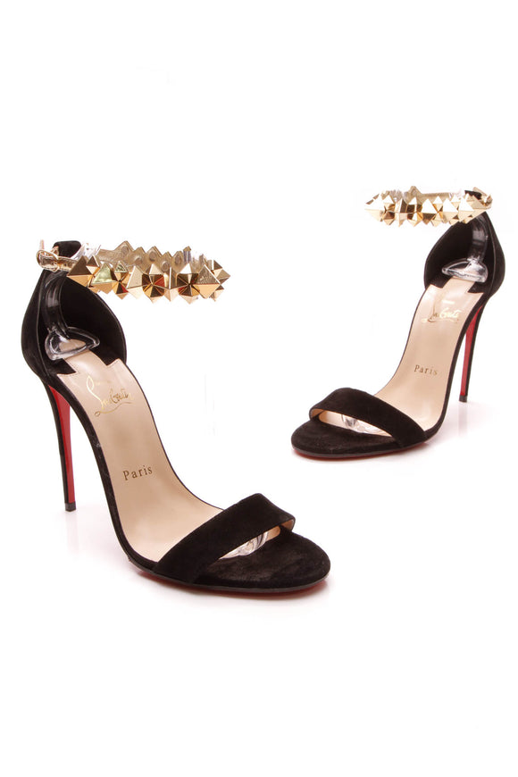 Christian Louboutin Planetiva 100 Heeled Sandals Black Size 38