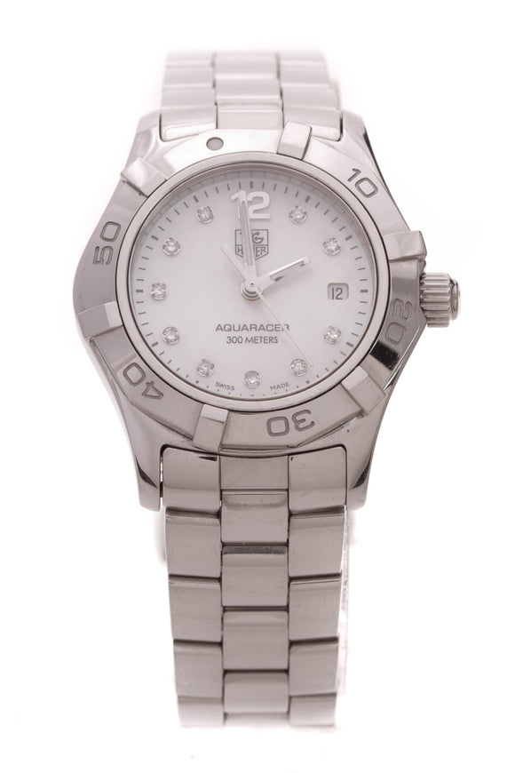 TAG Heuer Diamond Aquaracer Watch Steel
