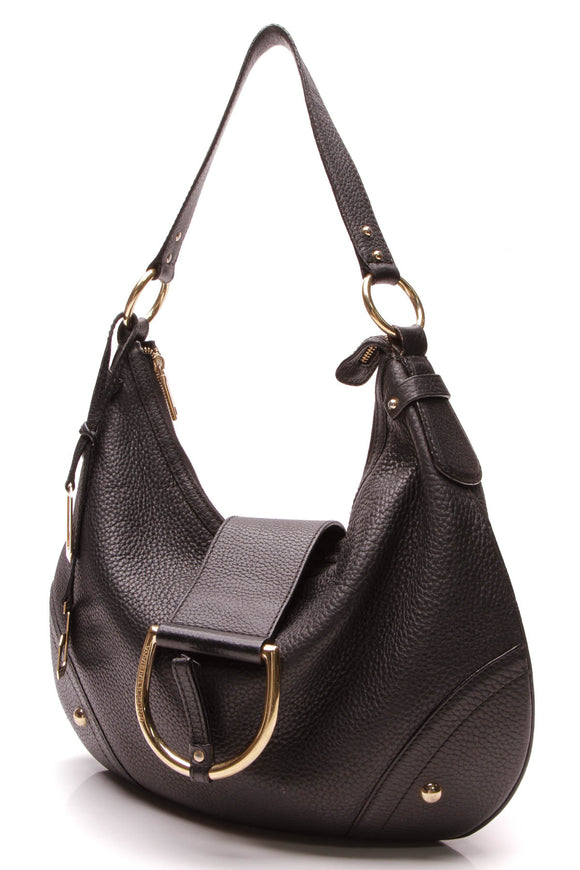 Dolce and Gabbana D-Ring Hobo Bag Black