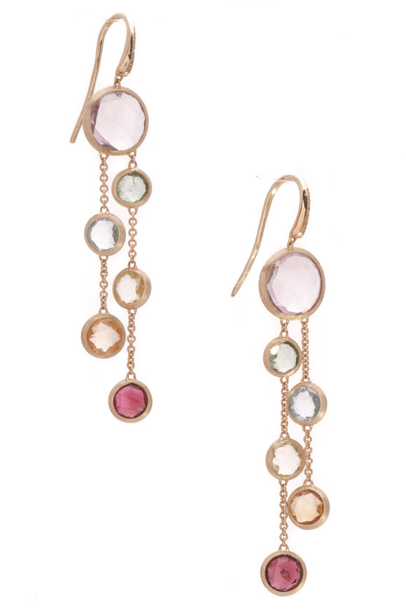 Marco Bicego Jaipur Multi-Stone Drop Earrings Gold