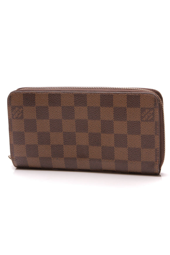Louis Vuitton Zippy Wallet Damier Ebene Brown