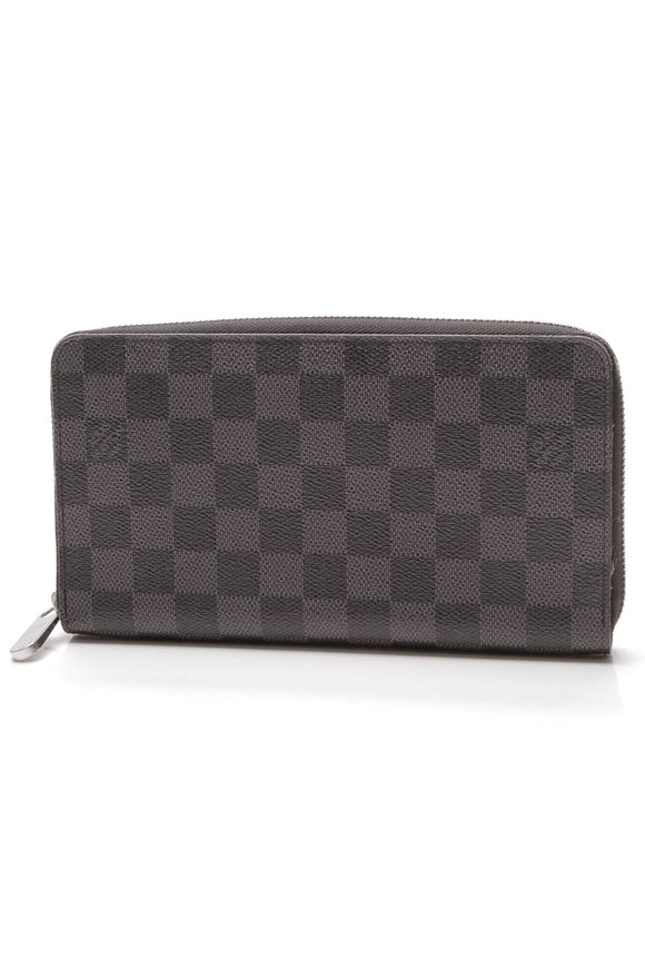 Louis Vuitton Zippy Organizer Wallet Damier Graphite Gray