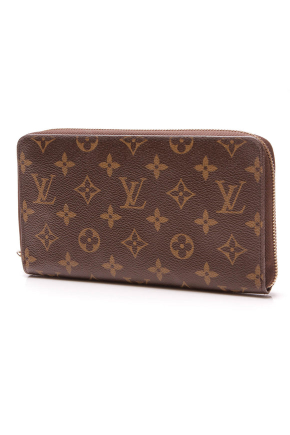 Louis Vuitton Zippy Organizer Wallet Monogram Canvas Brown