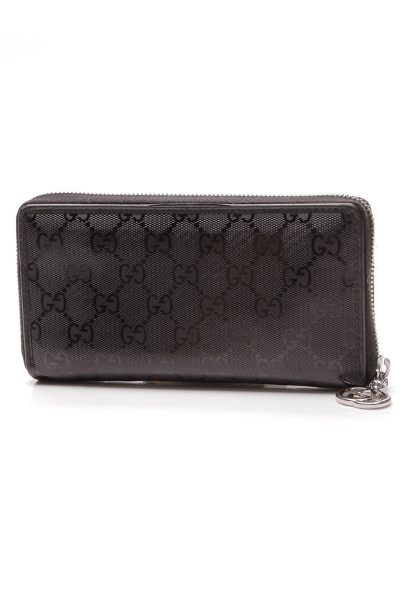 Gucci Imprime Zippy Wallet Black