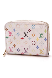 Louis Vuitton Zippy Coin Purse Wallet White Multicolore Monogram