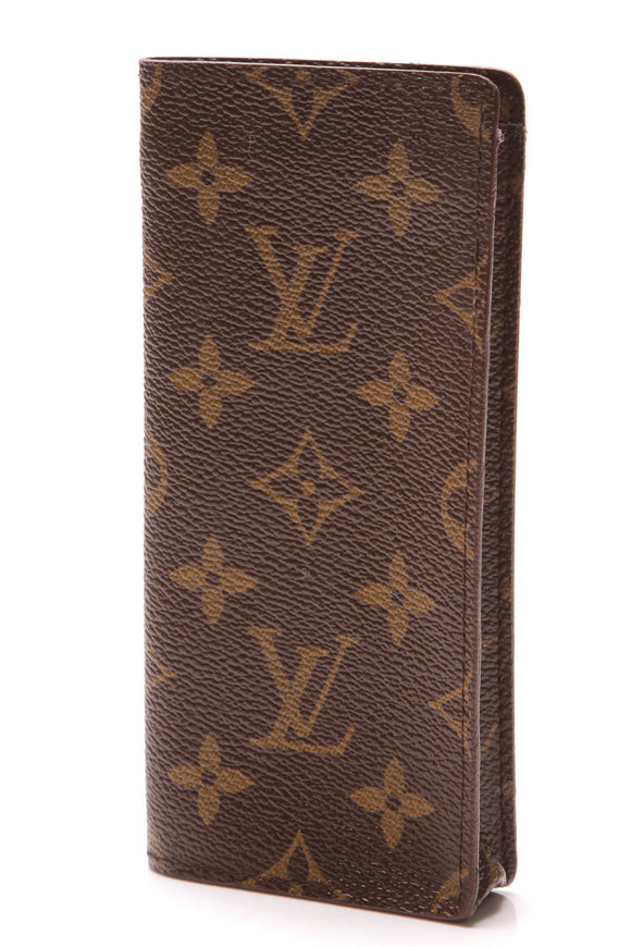 Louis Vuitton Vintage Etui Lunettes Sunglasses Case Monogram Brown