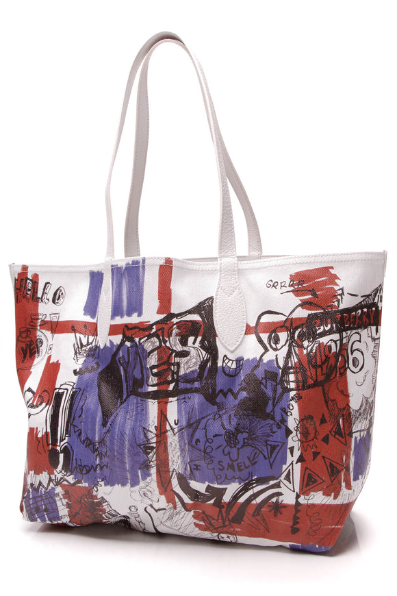 Burberry Doodle Reversible Tote Bag Multicolor
