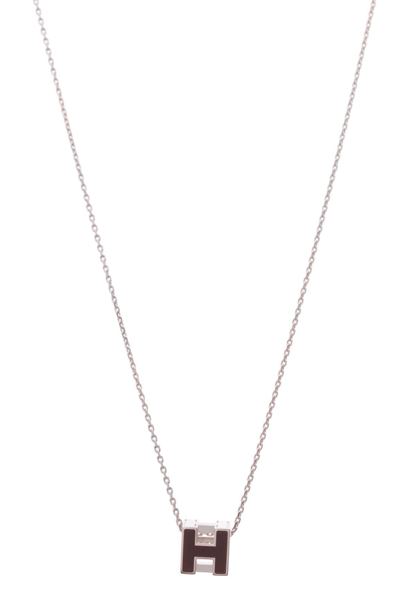 Hermes Cage D' H Necklace Plum