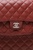 Chanel Paris-Edinburgh Flap Pocket Tote Bag Burgundy