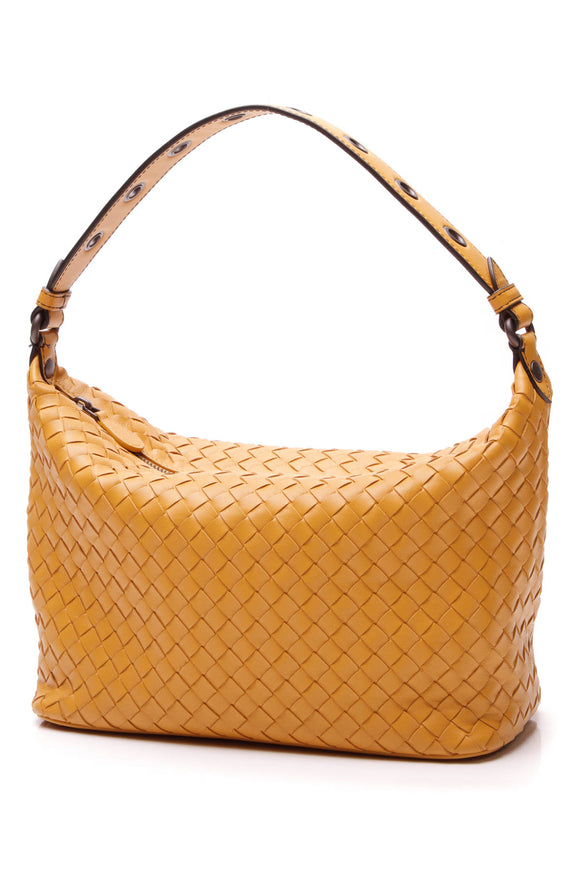 Bottega Vaneta Intrecciato Shoulder Bag Mustard