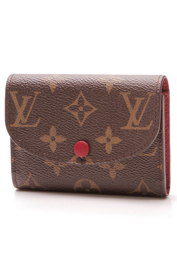 Louis Vuitton Rosalie Coin Purse Monogram Brown Dark Fuschia
