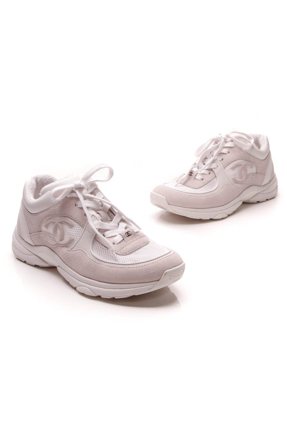 Chanel Chunky Sneakers White Size 39