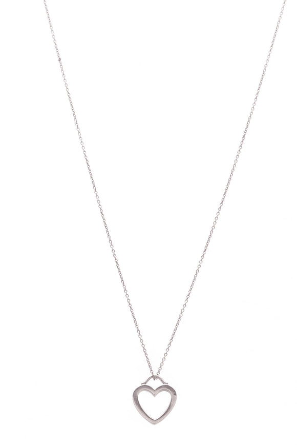 Tiffany & Co. Heart Pendant Necklace Silver